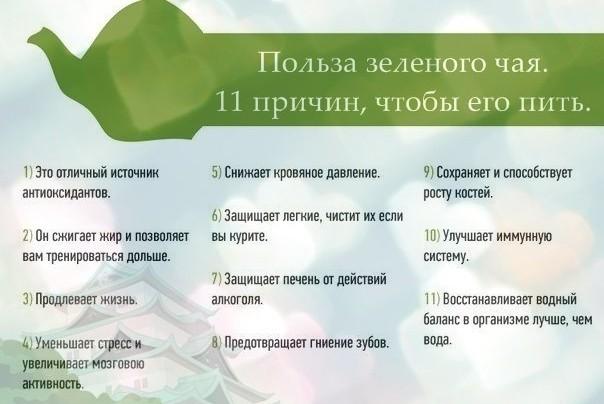 11 причин, чтобы пить зелёный чай