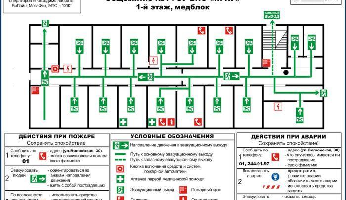 План эвакуации от piv01.ru