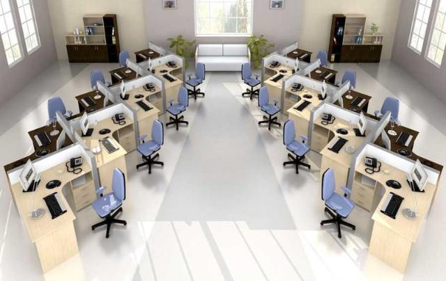 Правильно планируем офис и экономим на мебели