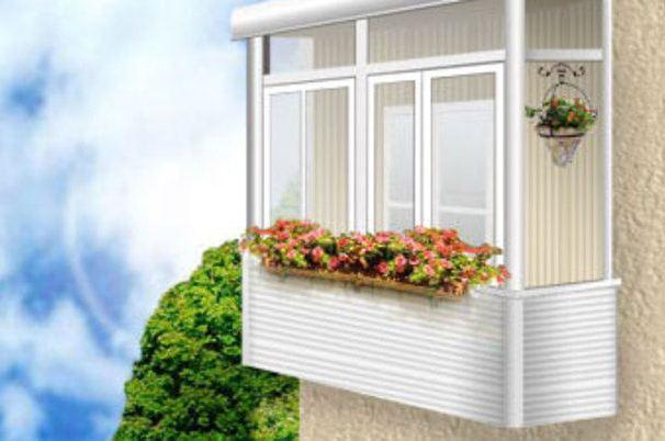 Остекление балконов от alplastroy.ru