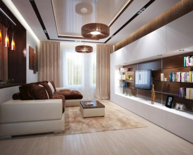 Интерьер зала в современном стиле