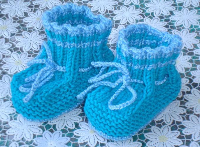 Пинетки и носки спицами или крючком