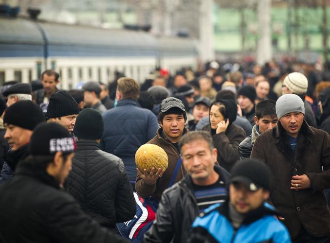 Сдача экзамена для мигрантов